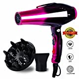hair dryers for men - Professional Ionic Hair Dryer,Hand Held Powerful Salon Performance AC Motor Styling Tool/ 3500W Blow Dryer with Nozzle and Diffuser for Women Men Smooth, Shiny Hair,Valentine's Gift for Women Men