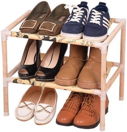 Chaussures en bois massif simples et simples Ensemble m/énager simple /Étag/ère /à /économie multiple Armoire /à chaussures /à assemblage multifonction anti poussi/ère shoe rack taille : M LUYIASI