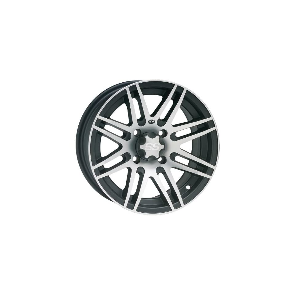 ITP SS316 Wheel   14x7   4+3 Offset   4/156   Black/Machined , Bolt Pattern 4/156, Rim Offset 4+3, Wheel Rim Size 14x7, Color Black, Position Front/Rear 1428523536B