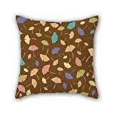PILLO 16 x 16 inches / 40 by 40 cm leaf pillow shams,each side is fit for home theater,dining room,bar,birthday,gf,boys