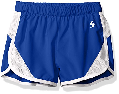 Soffe Big Girls' Woven Mesh Insert Short, Royal, Large (Mesh Soffe)