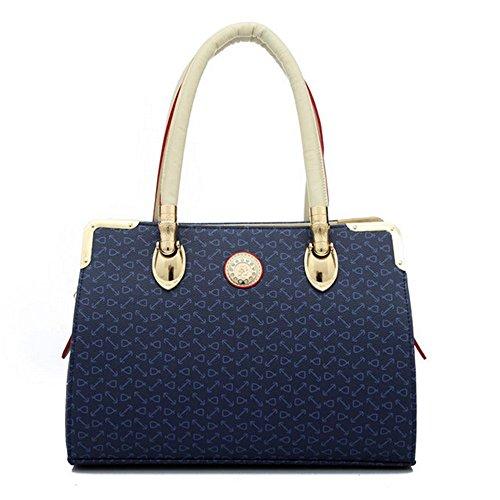 Eysee - Cartera de mano para mujer Rosa azul 32cm*20cm*12cm azul