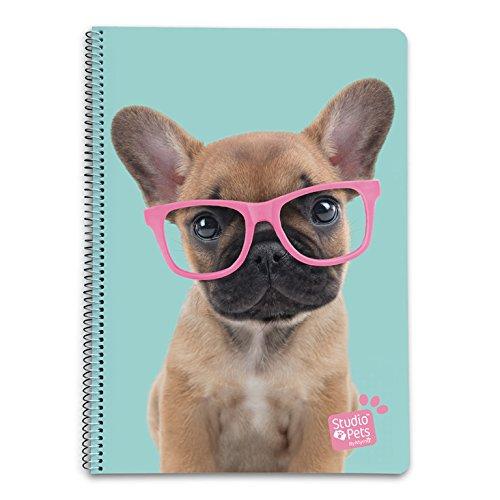 Grupo Erik CTDA40031 Quaderno appunti A4 Studio Pets Cane Glasses