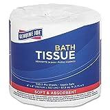 "Genuine Joe GJO2508080 2-Ply Embossed Roll Bathroom Tissue, 4"" Length x 4"" Width, White (Case of 80 Rolls, 550 sheets per Roll)"