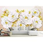 LIWALLPAPER-Carta-Da-Parati-3D-Fotomurali-Farfalla-Dorata-Floreale-Camera-da-Letto-Decorazione-da-Muro-XXL-Poster-Design-Carta-per-pareti-200cmx140cm