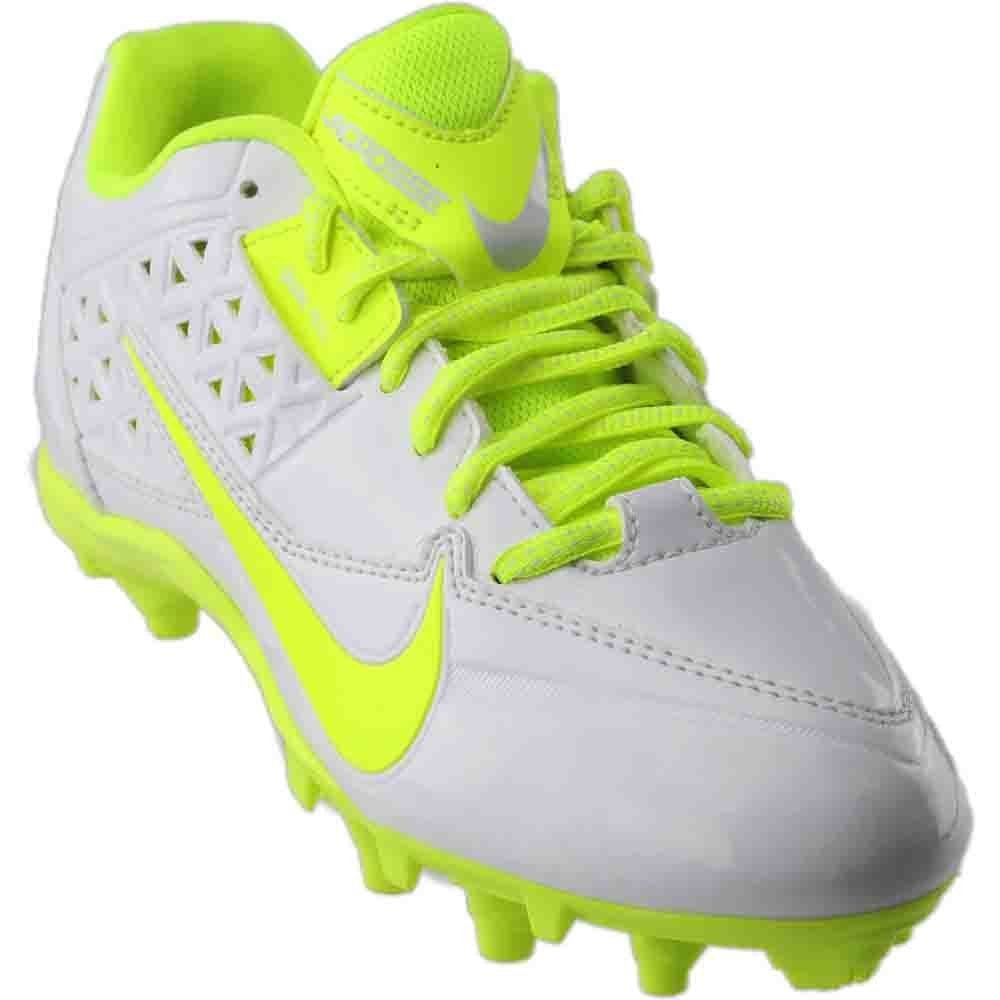 Nike New Women's Speedlax 4 Le Lacrosse Cleat White/Volt 8