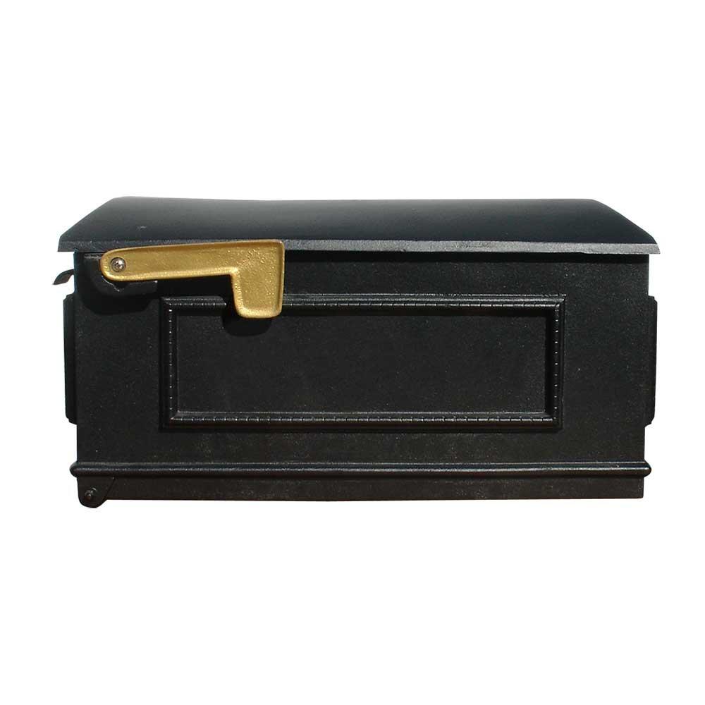 Qualarc LM-BL Lewiston Cast Aluminum Post Mount Mailbox, Black