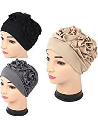 Lucky staryuan Cyber Monday 3Pack Womens Chemo Hat Beanie Turban Headwear for Cancer Patients