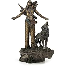 Native American Warrior Praying Statue Sculpture Figurine