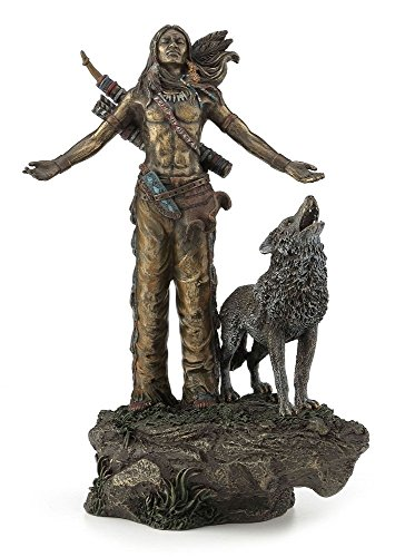 Native American Warrior Praying Statue Sculpture Figurine (Figurine Statue Warrior)