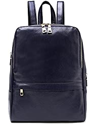 TINGLAN Genuine Leather Backpack for Women Girls Satchel Fashion Daypack