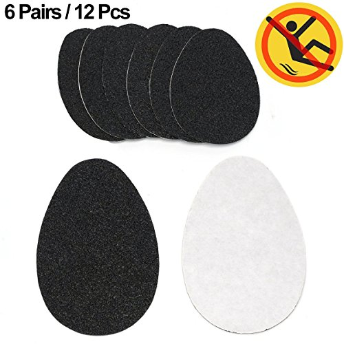 12 pieces Shoe Grips Anti-slip Shoes Sticker, AUSAYE Self-adhesive Heel Pads Rubber High Heel Grips Shoe Pads Sole Protector No Slip Cushion Heel Replacement Pad
