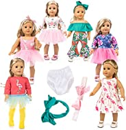 axxxt 12pc American Doll Unicorn Doll Clothes ,American girsl Doll Unicorn accessori, American girsl Doll Acce