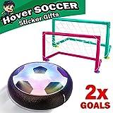 Sixone Kids Toys Hover Soccer Ball Sport Toys Set 2 Goals Indoor Outdoor
