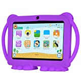 Xgody T702 7 Inch HD KidsTablet PC for Kids Quad Core Android 8.1 1GB RAM 8GB ROM Touch Screen with WiFi Pre-Loaded 3D Game Dual Camera Purple
