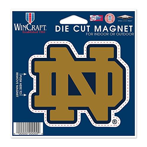 - WinCraft NCAA Notre Dame Die Cut Magnet, 4.5