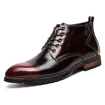 7f403697c958 Xiazhi-shoes Herren-Stiefeletten Retro-Pinsel Farbe mit Reißverschluss  oberen Seite geschnitzt Brogue