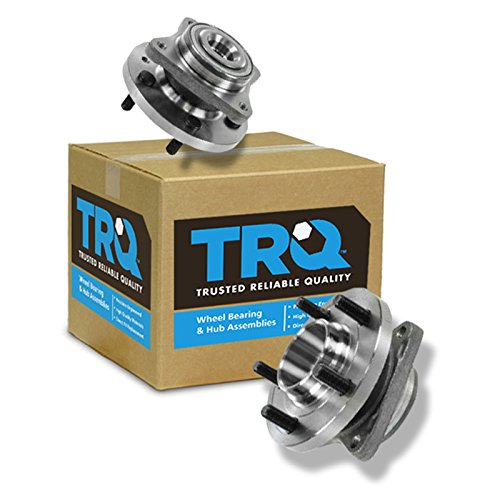 TRQ Front Wheel Hub & Bearing Pair Set for Land Rover LR3 LR4 Range Rover Sport