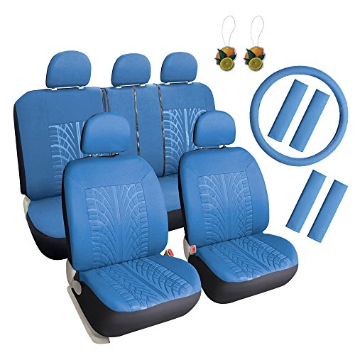 blue 17 piece car seat covers - 1