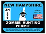 New Hampshire Zombie Hunting Permit(Bumper Sticker)