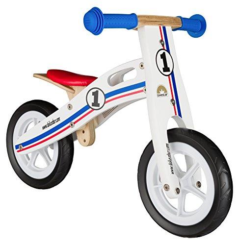 BIKESTAR Bicicleta sin Pedales para niños y niñas | Bici Madera Pulgadas a Partir de 2-3 años | 10″ Edición Sport Blanco