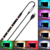 Autai LED Backlight Accent Night Light Bias Lighting for HDTV USB LED Strip Normal Bright White Backlight Kit for Flat Screen TV LCD Desktop PC