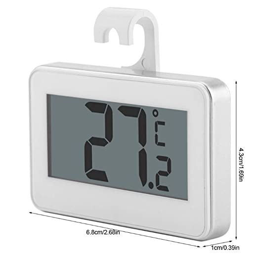 JKL Cocina Gran refrigerador LCD Termómetro Nevera-congelador con ...