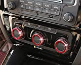 iJDMTOY 3pcs Red Anodized Aluminum AC Climate