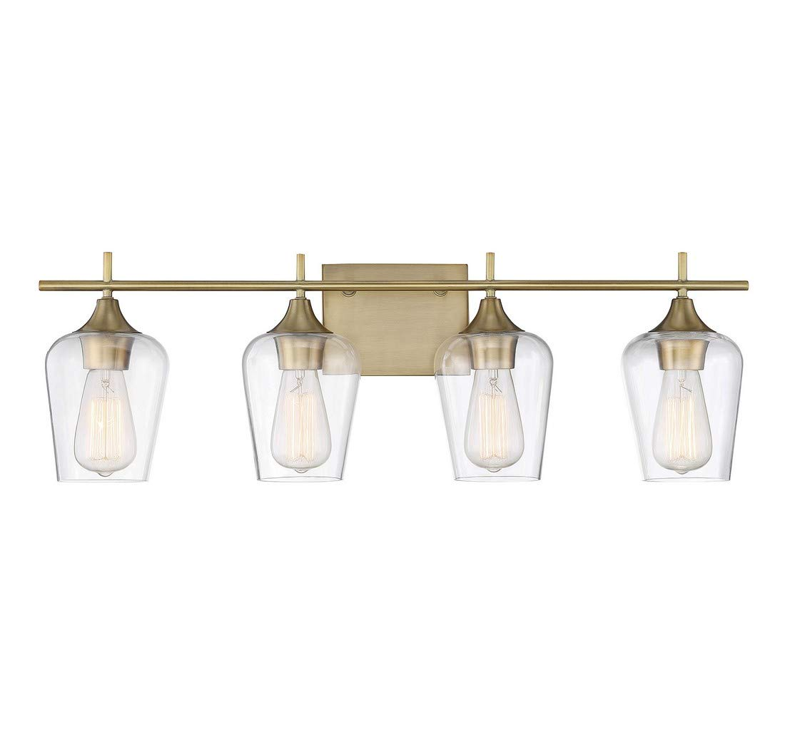 Savoy House Octave 4 Light Bath Bar 8-4030-4-322 in Warm Brass by Savoy House (Image #1)