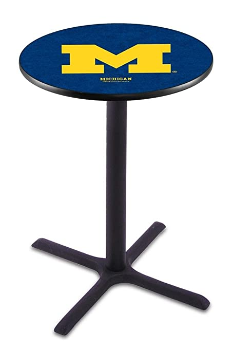 Marvelous Amazon Com Michigan Wolverines Black Wrinkle Bar Table Gmtry Best Dining Table And Chair Ideas Images Gmtryco