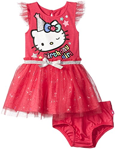 Hello Kitty Baby Girls' Tutu Dress, Fuchsia Purple Baby, 12 Months
