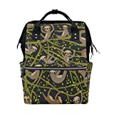 WOZO Funny Cartoon Sloth Multi-function Diaper Bags Backpack Travel Bag