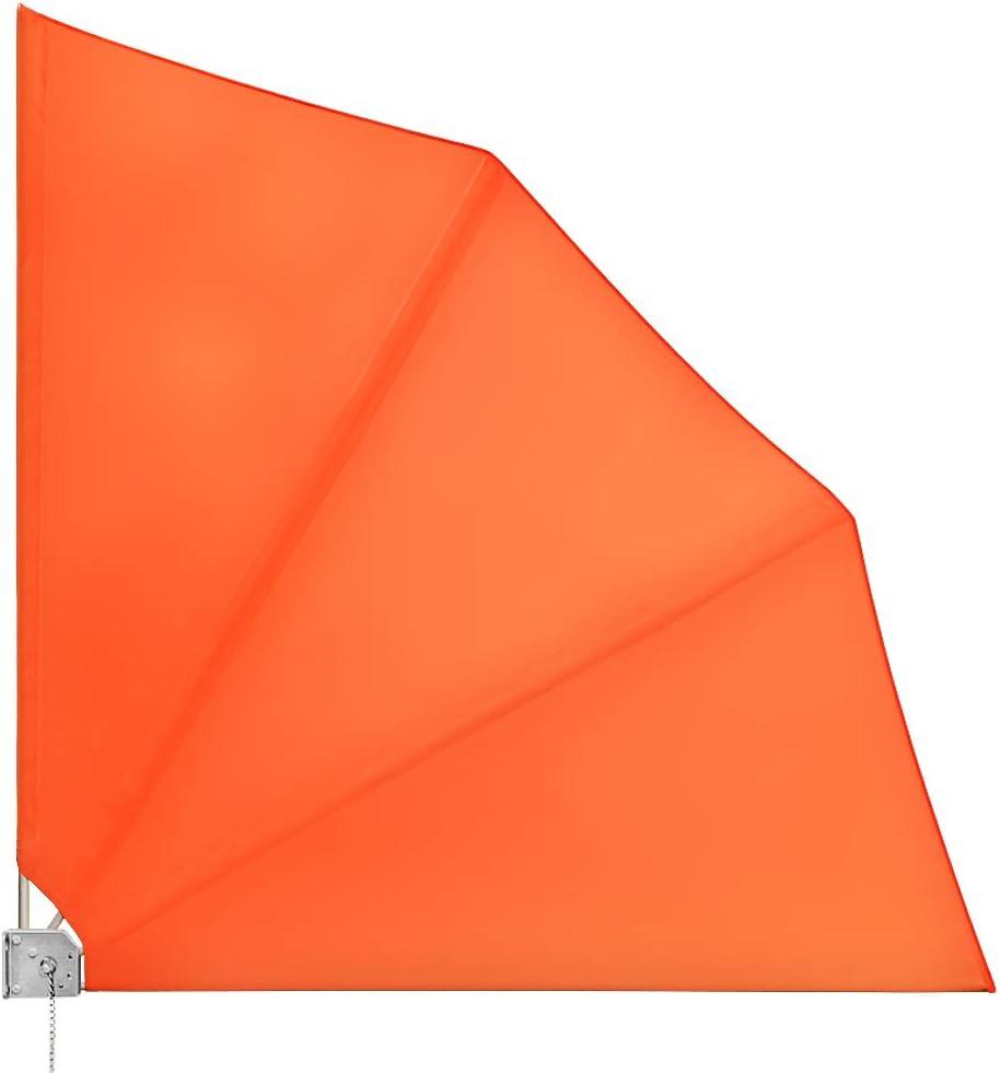 Amazon De Deuba Balkonfacher Klappbar Mit Wandhalterung 140x140cm