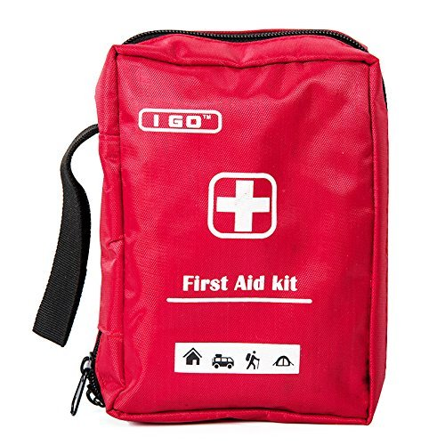 I Go A1FA02 Expedition First Aid Kit Emergency Survival Bag, Best for Hiking, Backpacking, Camping, Travel, Car & Cycling, Outdoors or Sports, Small & Compact