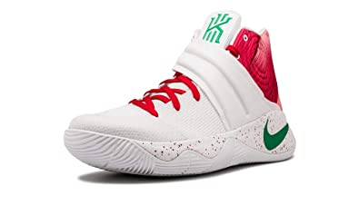 e29b9cbd010fb Amazon.com | Nike Kyrie 2 PRM White/Lucky Green-Gym RED [914925-163 ...