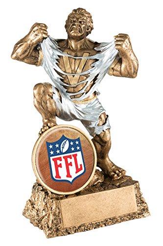 Fantasy Football League Monster Trophy / Hulk Award / FFL Victory (Bronze Insert)