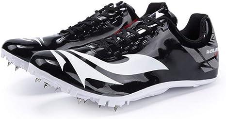 GLEYDY Zapatillas De Atletismo Ejecución De La Juventud Spikes Zapatos, 8 uñas Pista Y Campo Profesional Zapatos Cruz Competencia País De Uñas Formación Zapatilla De Deporte: Amazon.es: Deportes y aire libre