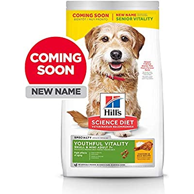 Hill's Science Diet Adult 7+ Youthful Vitality Small & Mini Chicken & Rice Recipe Dry Dog Food