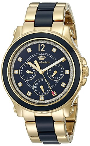 Juicy Couture Women's 1901305 Hollywood Analog Display Quartz Gold Watch