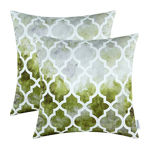 Pack of 2, CaliTime Cushion Covers Throw Pillow Shells 18 X