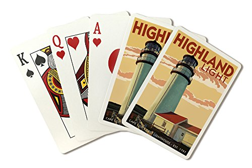 - Cape Cod, Massachusetts - Highland Light (Playing Card Deck - 52 Card Poker Size with Jokers)