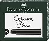 Faber-Castell 185507 – Standard Ink Cartridges – Black (Pack of 6)