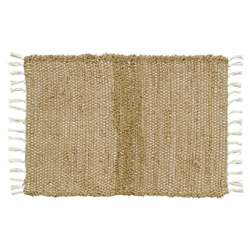 Jute Throw (VHC Brands Classic Country Farmhouse Flooring - Burlap Natural Tan Chindi/Rag)
