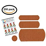 Vakly Kit - Curity Sterile Fabric Adhesive Bandages Variety Pack (200)