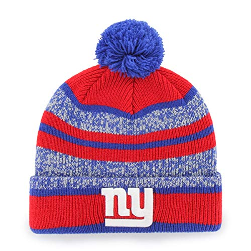 NFL New York Giants Huset OTS Cuff Knit Cap with Pom, Royal, One Size