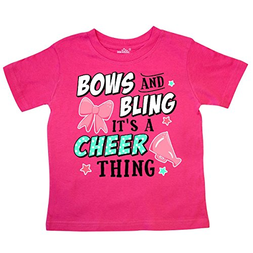 inktastic - Bows and Bling Its a Cheerleading Thing Toddler T-Shirt 4T Hot (408 Bow)