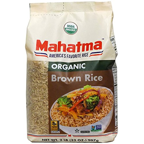 Brown Rice Gluten Free Organic - Mahatma Organic Brown Rice, 2 lb.