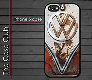 iPhone 5 Rubber Silicone Case - VW Bus Rusted Front End bumper grill Old School volkswagen bus