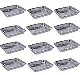 Pack of 12 Disposable Aluminum Foil Cake Pans