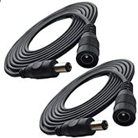Unitech 16ft 2.1x5.5mm Dc 12v Power Wire Cord Extension Cable for CCTV Security Camera IP Camera DVR System 2-Pack